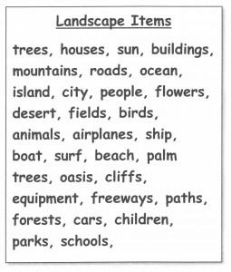 Landscape Items